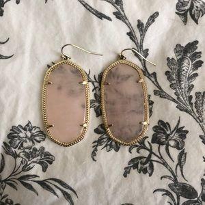 Kendra Scott Danielle earrings - rose quartz